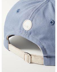 Folk Cotton-twill Baseball Cap - Blue