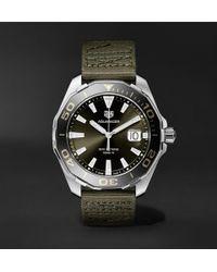 Tag Heuer - Aquaracer Limited Edition Quartz 43mm Steel And Webbing Watch - Lyst