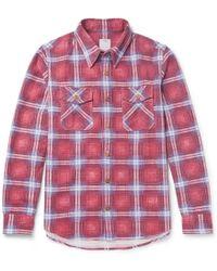 Visvim - Checked Cotton-flannel Shirt - Lyst