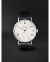 Nomos Glashütte Ludwig Neomatik 41 Limited Edition Automatic 40.5mm Stainless Steel And Leather Watch, Ref. No. 291 - White
