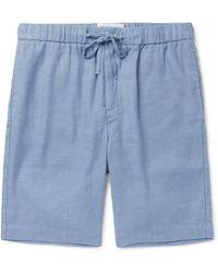 Frescobol Carioca - Slim-fit Linen And Cotton-blend Drawstring Shorts - Lyst
