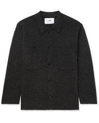 NN07 Jonas Brushed-wool Overshirt - Grey