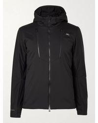 Kjus 7sphere Slim-fit Padded Hooded Ski Jacket - Black