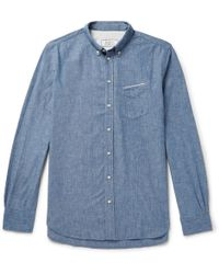 Officine Generale - Cotton-chambray Shirt - Lyst