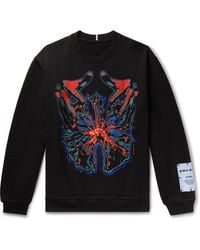 McQ Printed Loopback Cotton-jersey Sweatshirt - Black