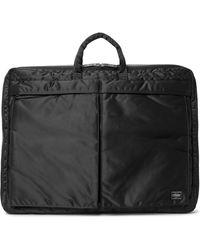 Porter Tanker 2way Nylon Garment Bag - Black