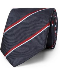 Dunhill - 7cm Striped Mulberry Silk Tie - Lyst