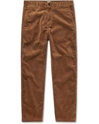 Carhartt WIP Menson Cotton-blend Corduroy Trousers - Brown