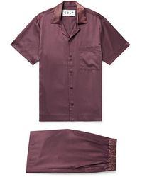 CDLP Lyocell Pajama Set - Purple