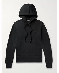 Acne Studios Ferris Fleece-back Cotton-jersey Hoodie - Black