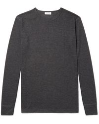 Sunspel Thermal Jersey Pajama T-shirt - Gray