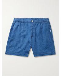 Onia Linen Shorts - Blue