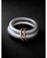 Spinelli Kilcollin Virgo White And Rose Gold Ring - Metallic