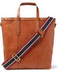 J.Crew - Oar Leather Tote Bag - Lyst