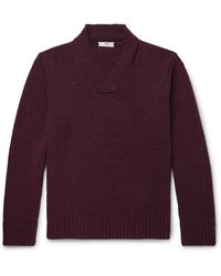 Inis Meáin - Shawl-collar Donegal Merino Wool And Cashmere-blend Sweater - Lyst