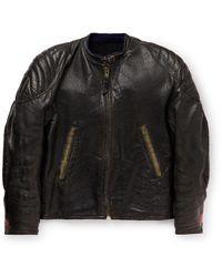 Our Legacy Tt Redflex Textured-leather Jacket - Black