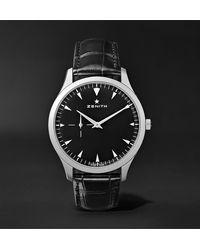 Zenith Elite Ultra-thin 40mm Stainless Steel And Alligator Watch, Ref. No. 03.2010.681/21.c493 - Black