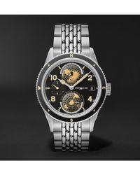Montblanc 1858 Geosphere Automatic 42mm Stainless Steel Watch, Ref. No. 125872 - Multicolor