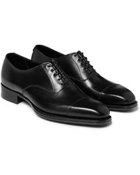 Kingsman George Cleverley Leather Oxford Shoes - Black