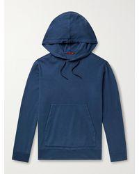 Barena Cotton-jersey Hoodie - Blue