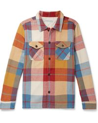 Outerknown - Checked Brushed Organic Cotton-twill Shirt - Lyst
