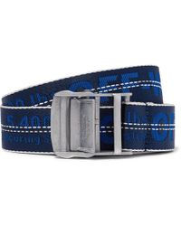 Off-White c/o Virgil Abloh - 3.5cm Blue Industrial Canvas Belt - Lyst