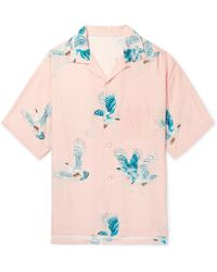 Flagstuff - Camp-collar Printed Woven Shirt - Lyst
