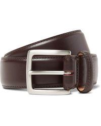 George Cleverley 3.5cm Dark-brown Leather Belt