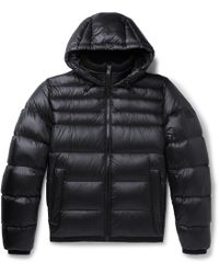 BOSS - Quilted-shell Hooded Down Jacket - Lyst