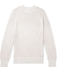 Cmmn Swdn Toby Knitted Cotton Jumper - White
