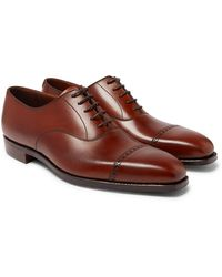 George Cleverley Charles Cap-toe Full-grain Leather Oxford Shoes - Brown
