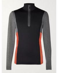 Bogner Camilo Slim-fit Logo-print Colour-block Stretch-jersey Half-zip Ski Base Layer - Black