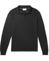 Derek Rose Finley 2 Cashmere Half-zip Jumper - Grey