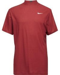 Nike Tiger Woods Dri-fit Mock-neck Golf Top - Red