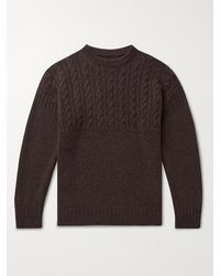 Kingsman Cable-knit Wool And Cashmere-blend Jumper - Brown