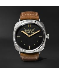 Officine Panerai - Radiomir S.l.c. 3 Days Acciaio 47mm Steel And Leather Watch - Lyst