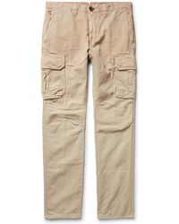 Incotex | Slim-fit Cotton And Linen-blend Cargo Trousers | Lyst