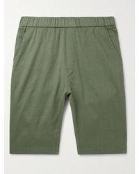 Barena Linen And Cotton-blend Shorts - Green