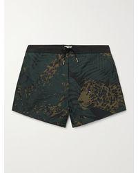 Saint Laurent Mid-length Printed Swim Shorts - Black