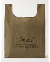 WTAPS Conveni Packabale Logo-print Nylon Tote Bag - Green