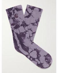 Carhartt WIP Vista Tie-dyed Cotton-blend Socks - Purple