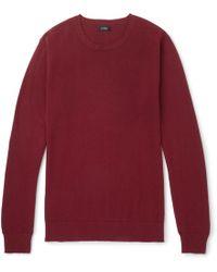 J.Crew - Cotton And Cashmere-blend Piqué Sweater - Lyst