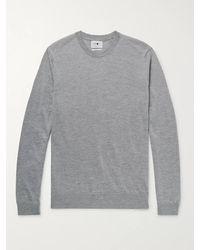 NN07 - Ted Mélange Merino Wool Sweater - Lyst