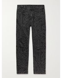 McQ In Dust Jacquard Jeans - Black