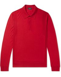 Dunhill Wool Polo Shirt - Red