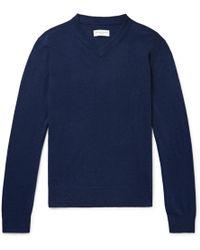 Officine Generale - Slim-fit Cashmere Sweater - Lyst