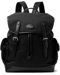 Mulberry - Heritage Leather-trimmed Nylon Backpack - Lyst
