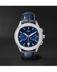 Piaget Polo S Automatic 42mm Stainless Steel And Alligator Watch, Ref. No. G0a43002 - Blue