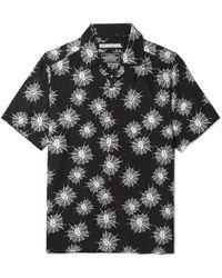 fb9259663a Saint Laurent Ysl 70s Western Shirt In Black Rinse Lyocell Twill for ...