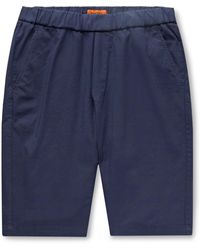 Barena Slim-fit Cotton-blend Shorts - Blue